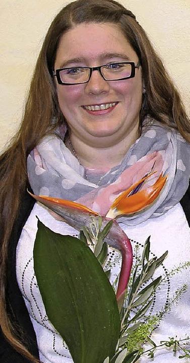 Übungsleiterin Kathrin Löffel wurde verabschiedet.   | Foto: Horst David