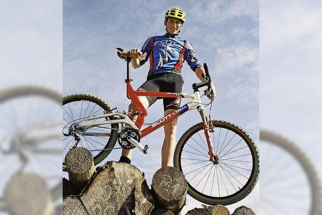 Mountainbiken in zwei Gruppen