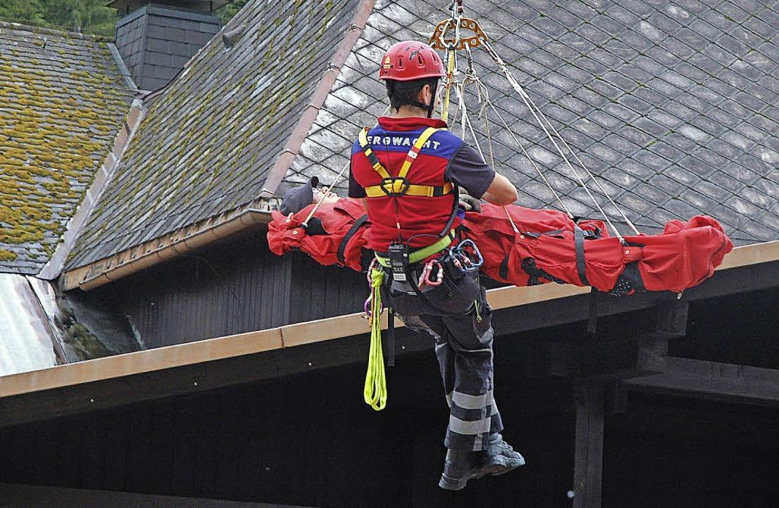 Seit 40 Jahren besteht die Bergwacht B...d die Rettungsorganisation im Sommer.     Foto: Christiane Sahli