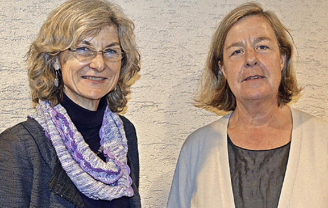 Rosemarie Bachmann (links) und Gudrun ...rationsteam des Asylkreises Fürenand.     Foto: Langelott/Asylkreis