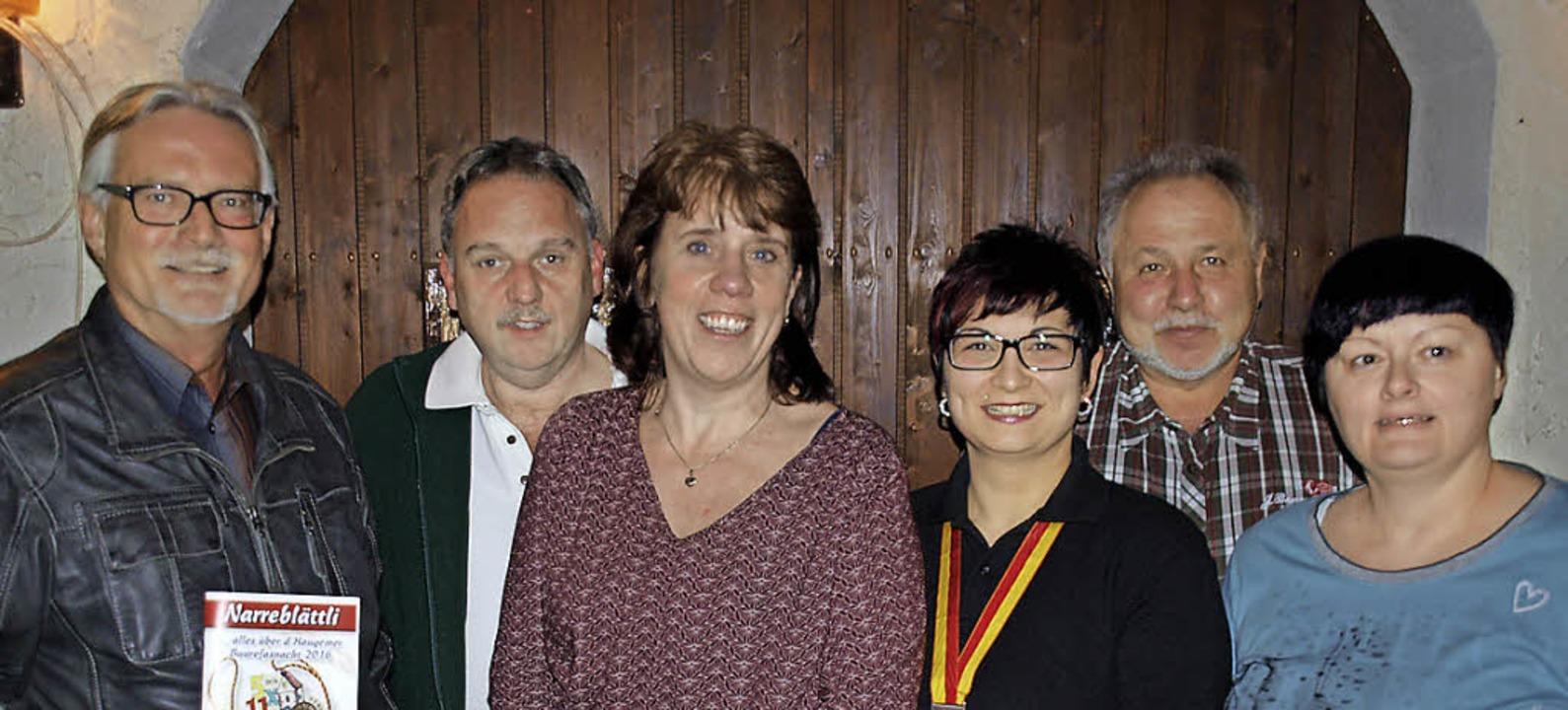 Vorstand des Freundeskreises Buurefasn... Manfred Köpfer, Annette Bachmann-Ade     Foto: P. Schleer