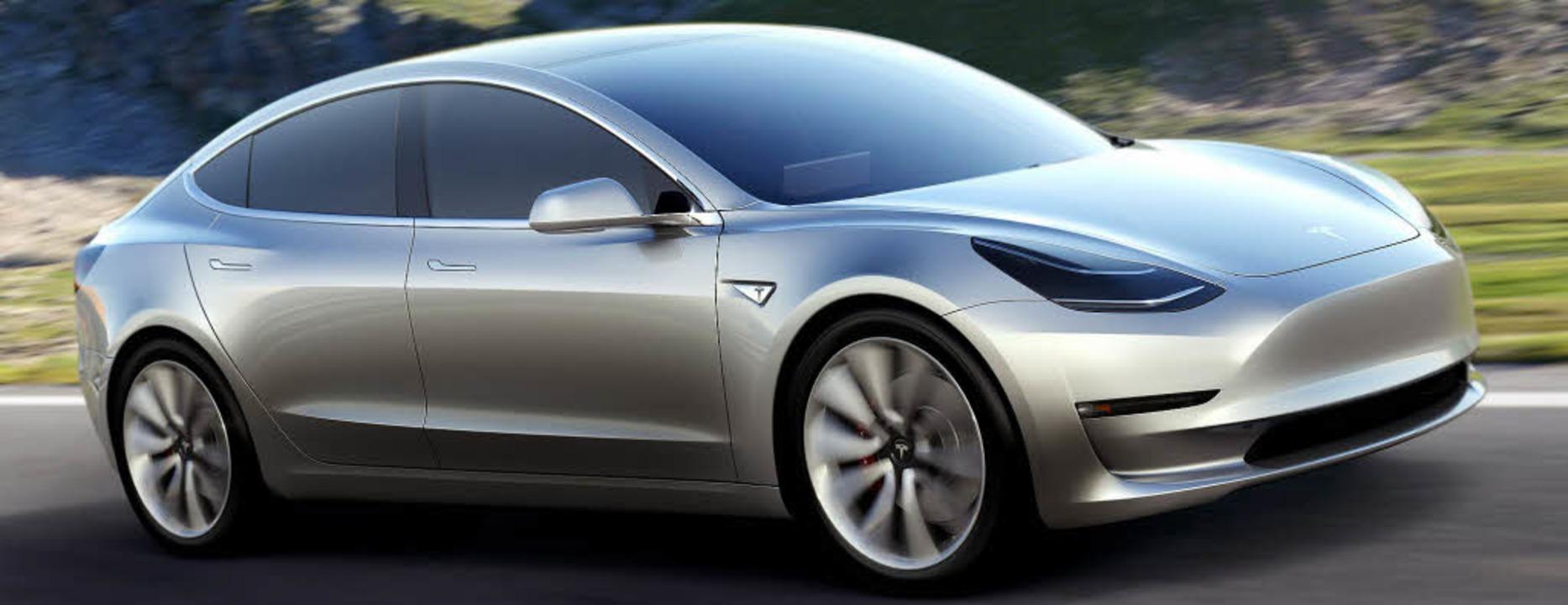 """Sportlich und ab 35000 Dollar zu haben: das """"Model 3""""     Foto: dpa"""