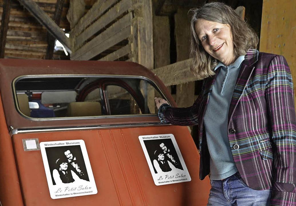 Elisabeth Kaiser will mit ihrem 2CV au...Winterhalter durch Osteuropa fahren.      Foto: Katharina Meyer