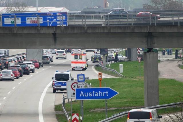 Sitzblockade auf A5 bei Weil am Rhein – 30 Festnahmen