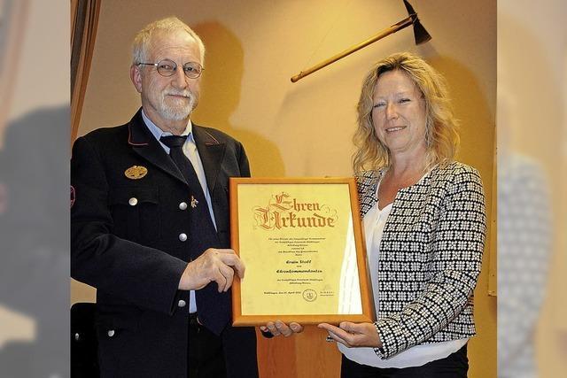 Erwin Stoll ist neuer Ehrenkommandant der freiwilligen Feuerwehr Stühlingen
