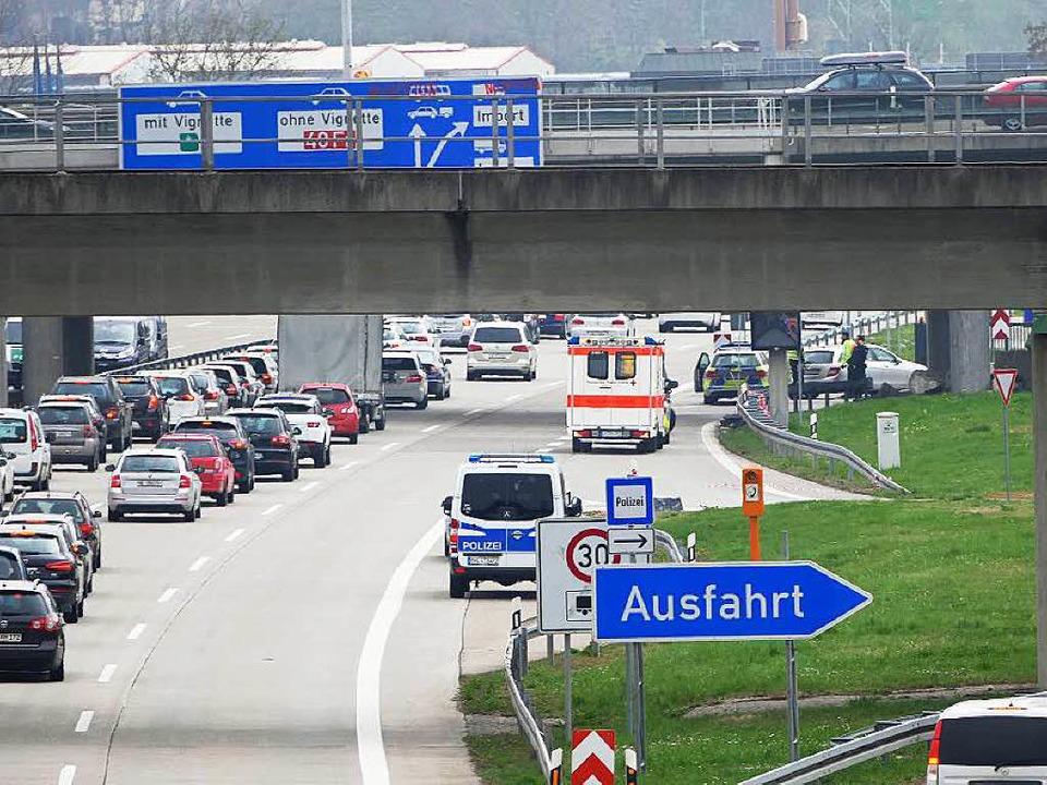 Stau A5 Richtung Basel