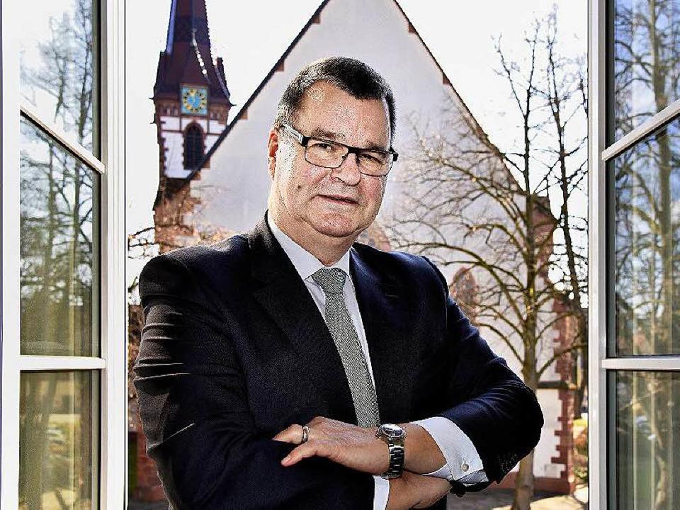 Kenzingens Bürgermeister Matthias Guderjan wurde im Amt bestätigt.  | Foto: Siegfried Gollrad