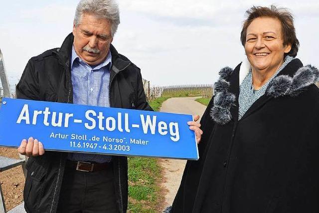 Norsingen ehrt den Künstler Artur Stoll mit einem Weg