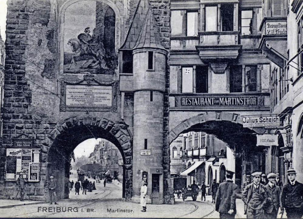 Das Tor um die Wende zum 20. Jahrhundert mit Dürrs Martin  | Foto: Privat