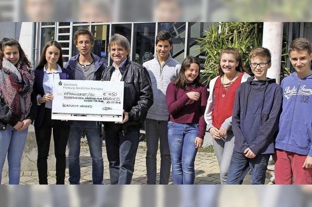 Schüler spenden für Kinderkrebshilfe