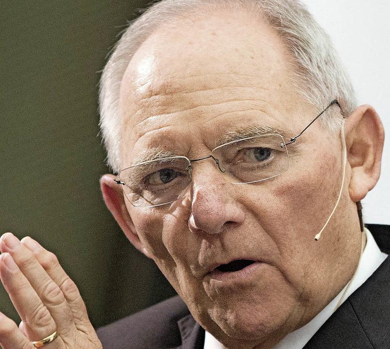 Wolfgang Schäuble   | Foto: dpa