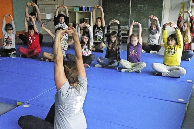 Wenn Yoga auf dem Stundenplan steht