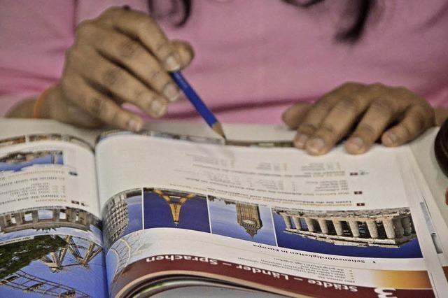 Flüchtlingskinder lernen in Vorbereitungsklassen