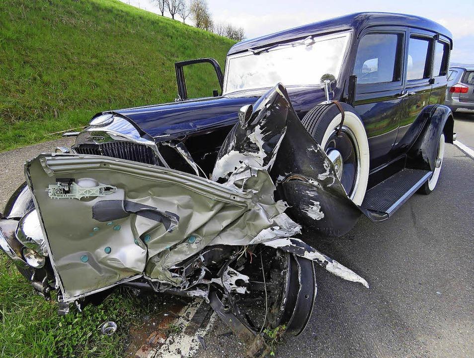 Bei einem Unfall im Kanton Aargau wurd...ades und wurde somit manövierunfähig.   | Foto: Kantonspolizei
