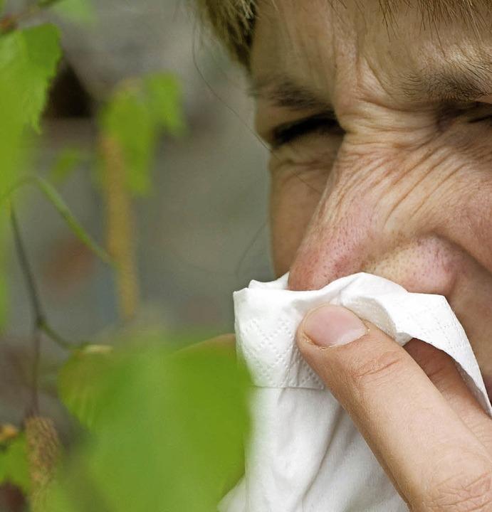 Für Allergiker beginnt nun die unangenehme Zeit.     Foto: dpa