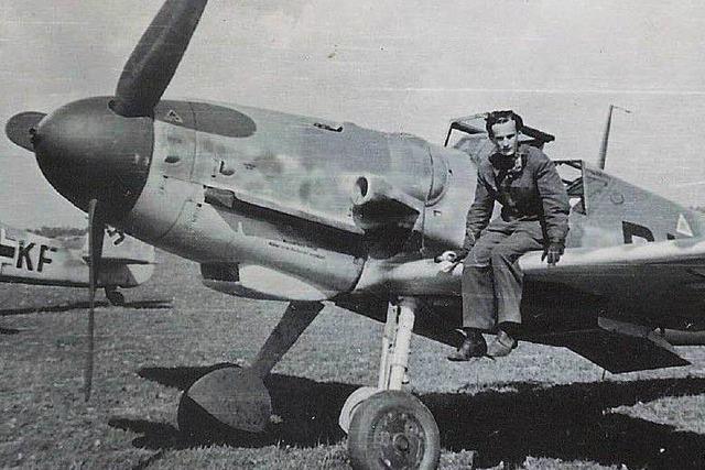 Jagdflieger besucht den Ort, über dem er 1944 als Jagdflieger abgeschossen wurde