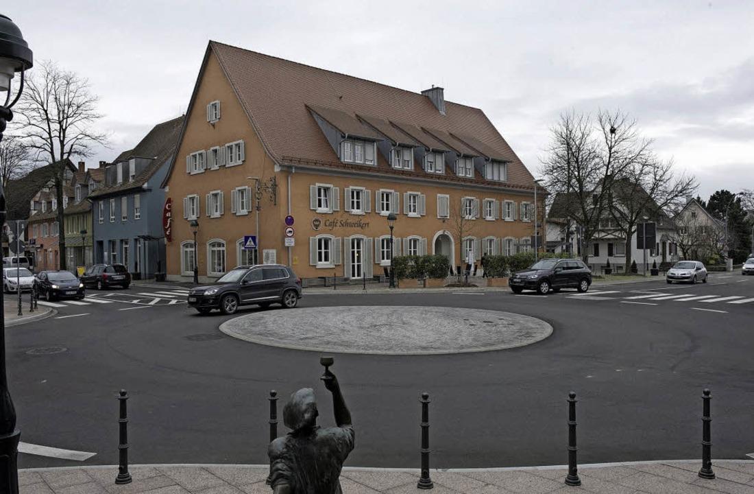Das Projekt Kronenrain-Kreisel ist nun abgeschlossen.     Foto: Volker Münch
