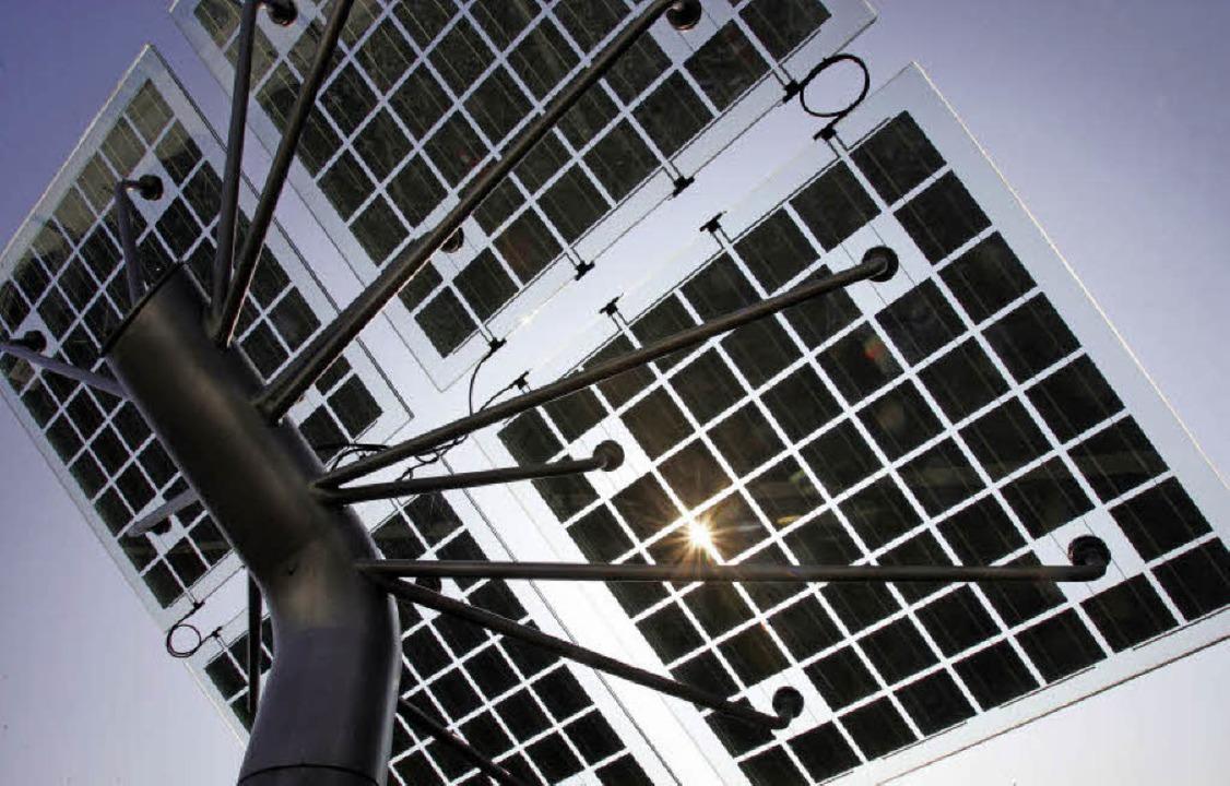 Sonnenkollektoren können genügend Fläc..., um ein Haus mit Strom zu versorgen.   | Foto: DPA