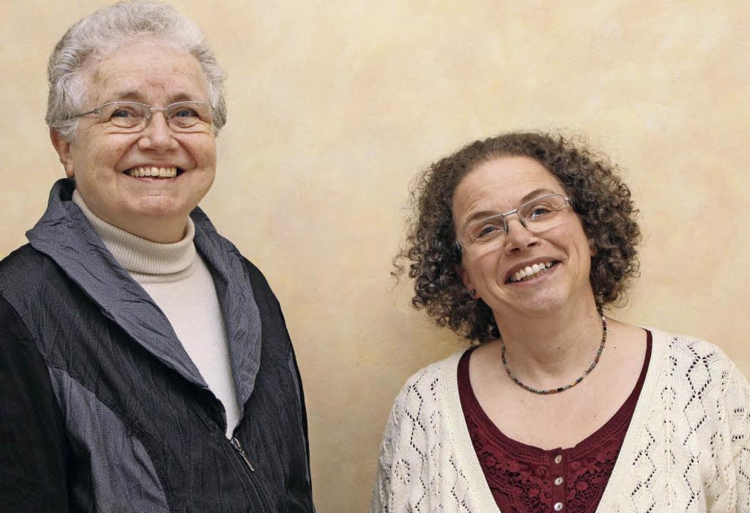 Dorothea Schaupp (links) und Susanne Illgner vertreten den Bezirk.   | Foto: Anja Bertsch