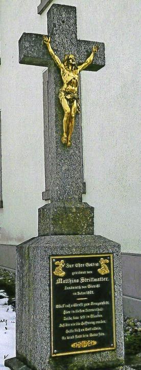 Wegkreuz am Marktplatz in Görwihl, das...as Strittmatter, 1867 erstellen ließ.   | Foto: Paul Eisenbeis