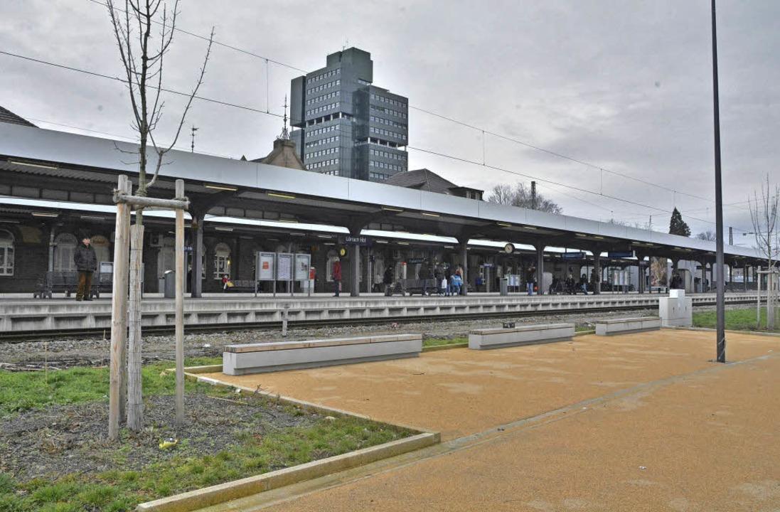 Zwischen Belchenstraße und Bahnhof entsteht ein Aufenthalts- und Flanierbereich.    Foto: Barbara Ruda