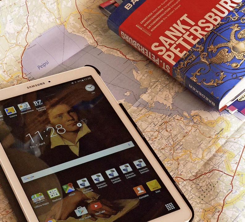 Für die Fahrt ist alles vorbereitet: M...eigenen Blog über die Reise berichten.    Foto: Sebastian Barthmes