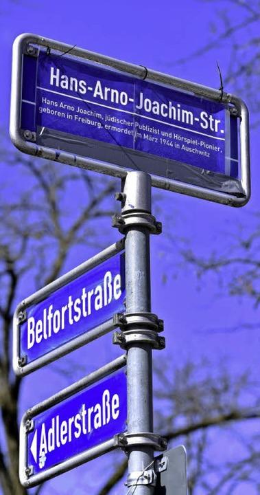 Aus der Wilhelmstraße wurde die Hans-Arno-Joachim-Straße.   | Foto: kunz