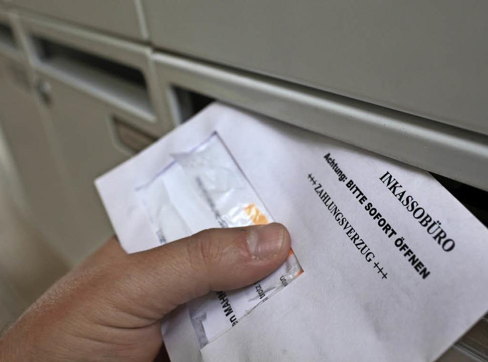 Widerspruch einreichen lohnt sich bei Forderungen von Inkassofirmen.  | Foto: DPA