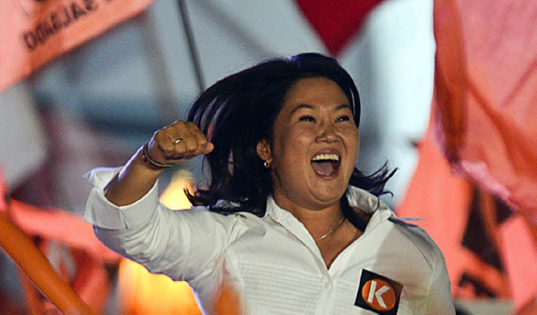 Auf Wahlveranstaltungen wird sie schon gefeiert: Keiko Fujimori     Foto: AFP