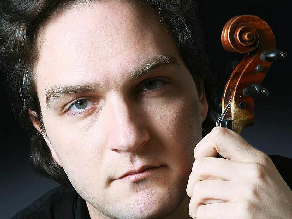 """""""Geige zu unterrichten  war effe...s jeder Deutschkurs"""": Ali Moraly    Foto: Presse- und Informationsamt Karlsruhe"""