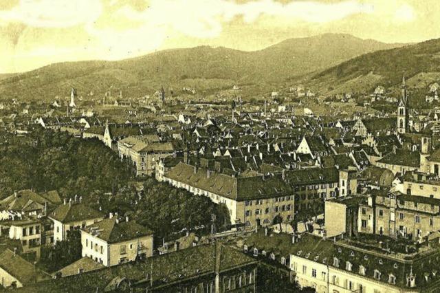 Wie der Rundumblick von der Stadttheater-Kuppel vor 100 Jahren aussah