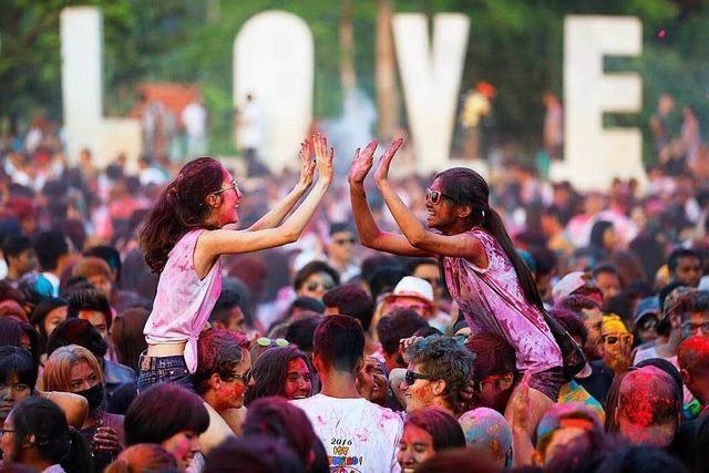 Ein Festival der Farben