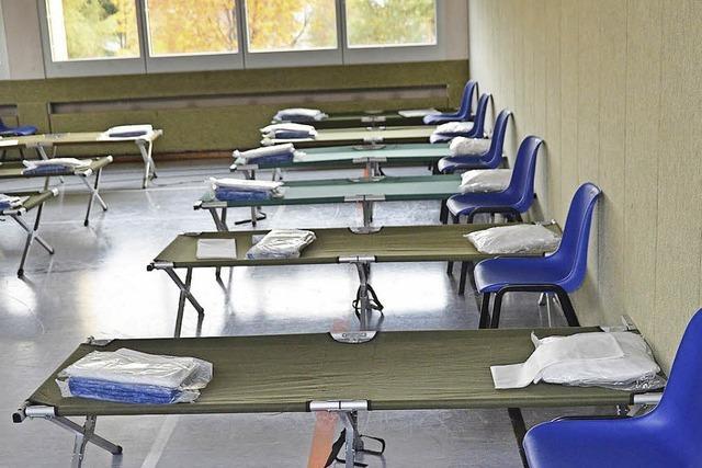 Derzeit keine Flüchtlinge in der Sabine-Spitz-Halle