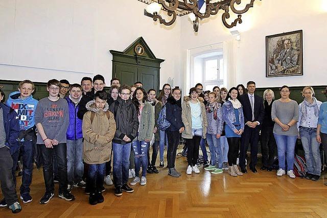 Schüler aus Poligny zu Gast beim THG