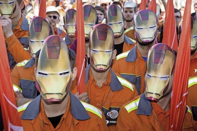 Zehntausende Stahlkocher demonstrieren gegen Billigimporte aus China