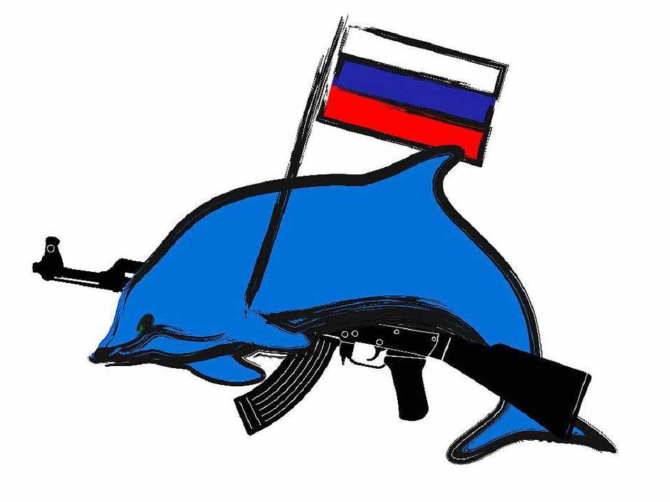 Etwas subtiler dürften die echten Kampf-Delfine doch aussehen.  | Foto: ---