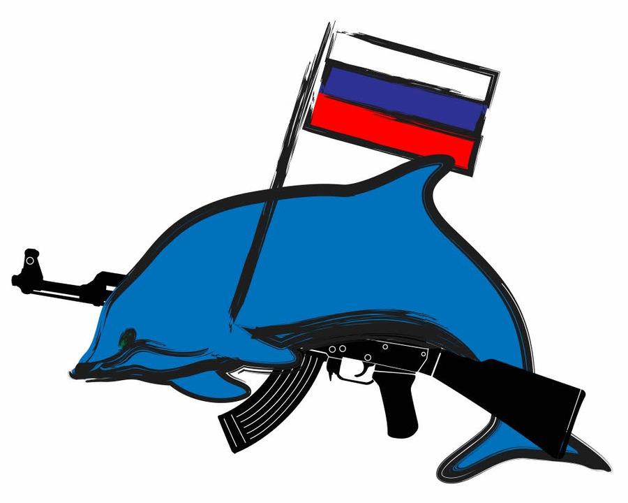 Etwas subtiler dürften die echten Kampf-Delfine  aussehen.   | Foto: Illustration: zellmann