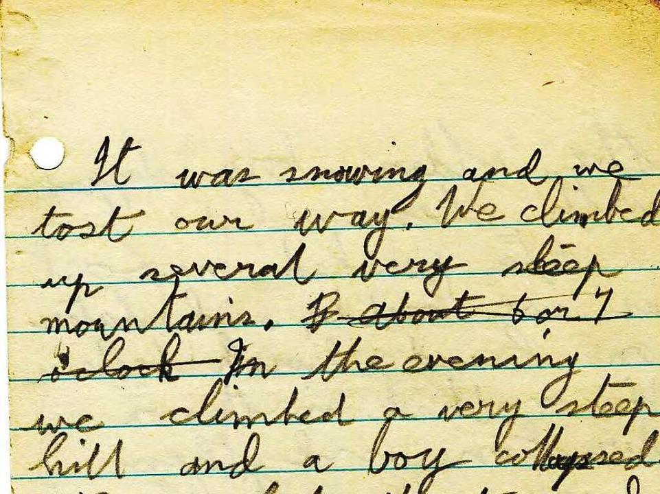 Auszug aus dem Tagebuch von Ken Osborn... Unglück vom Freitag, 17. April 1936.   | Foto: Privat