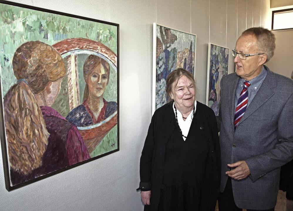 Helga Marten und Jürgen Hoffmann vom A...ngelischen Gemeindehaus in Kenzingen.     Foto: Michael Haberer