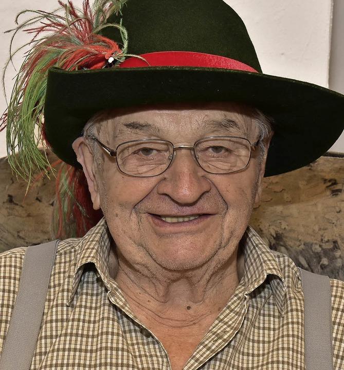 Gerhard Jauch, Ehrenoberzunftmeister der  Brunnenputzer wird  80 Jahre alt.    Foto: Dieter Erggelet