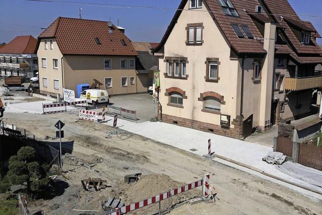 Bauarbeiten von zwei Seiten