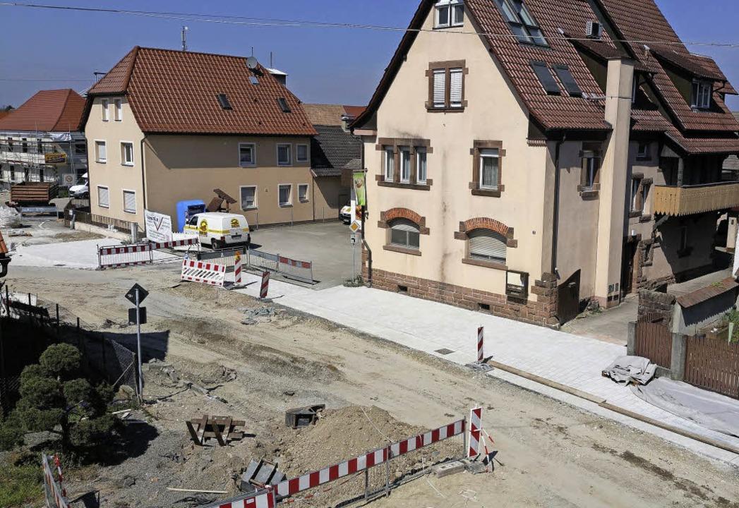 Die Ottenheimer Ortsmitte ist derzeit eine Baustelle.  | Foto: Gemeinde