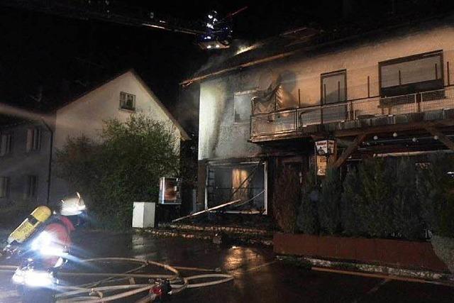 Brand in Albbruck: Feuer wurde vermutlich gelegt