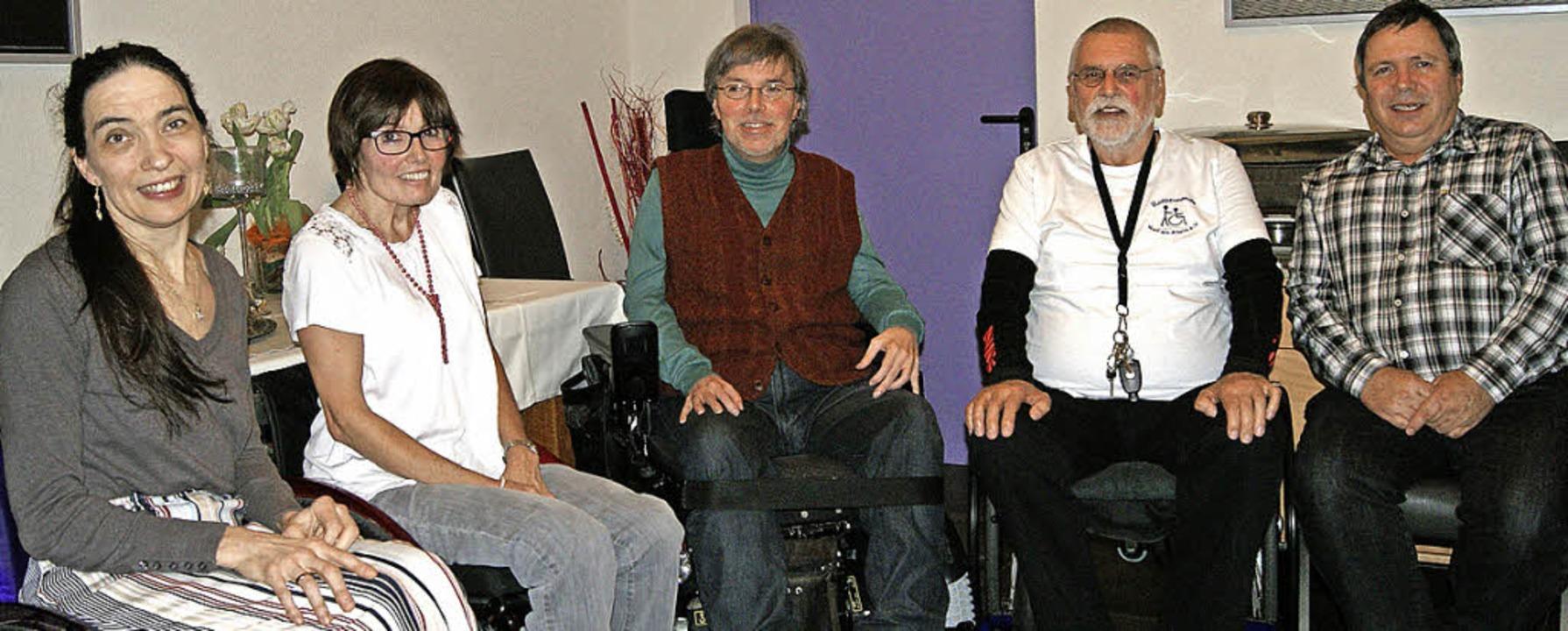 Der Vorstand der Rollifreunde mit (von...we Reimann und Kassierer Markus Kranz     Foto: Müller