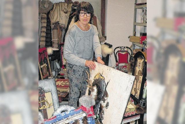 Kunsthandwerkerin mit schrillen Ideen