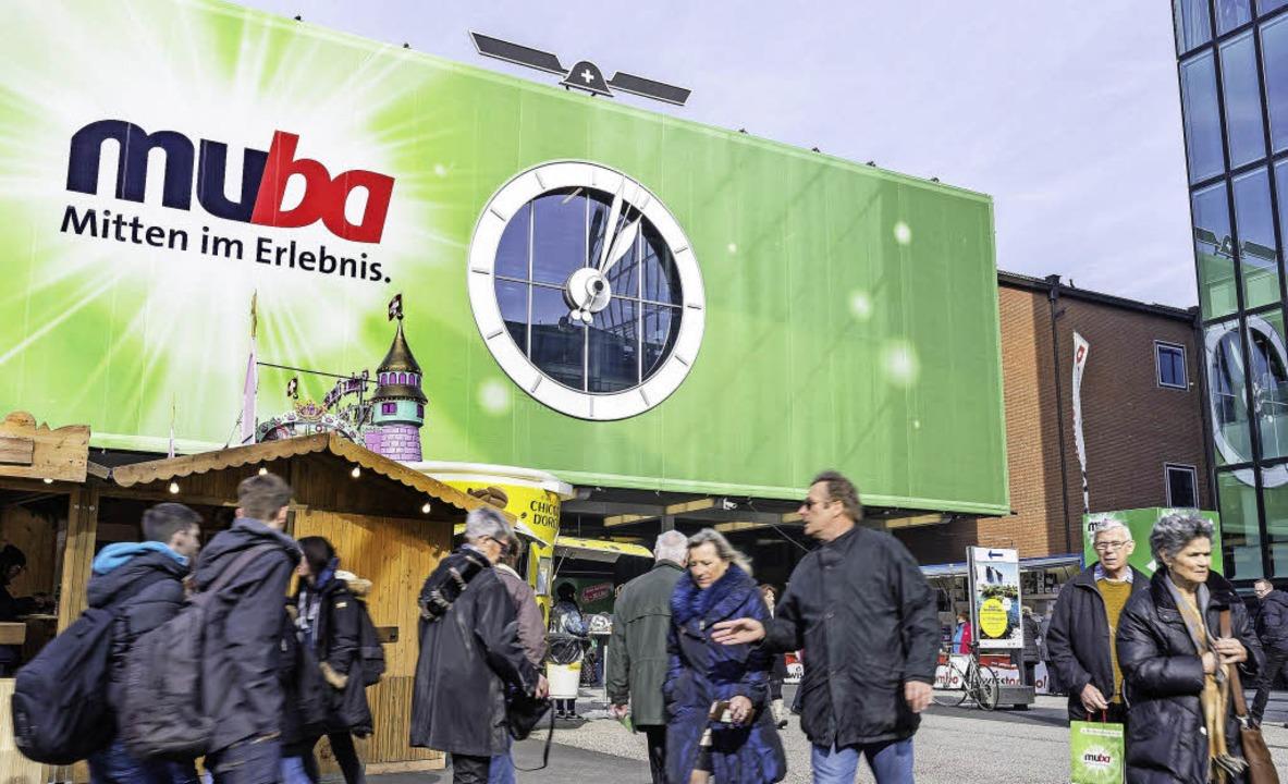 Der 1953 errichtete Rundhofbau ist bis...zeichen der muba und der Messe Basel.   | Foto: MCH Group