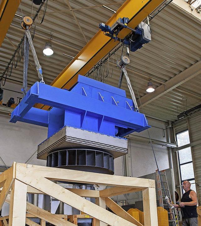 Ein  Industrieventilator von Meierling... den Versand transportsicher gemacht.   | Foto: Meierling,  Nicole Gschwind