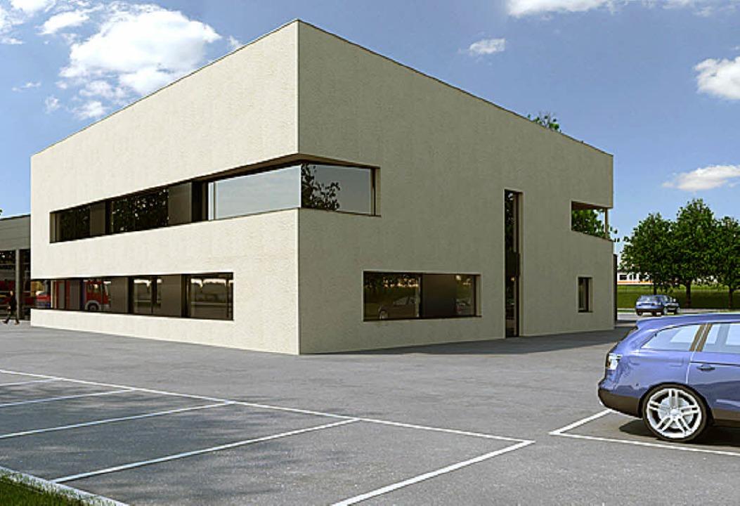380000 Euro kosten die Außenanlagen beim neuen Gerätehaus der Feuerwehr.   | Foto: Büro Preiser