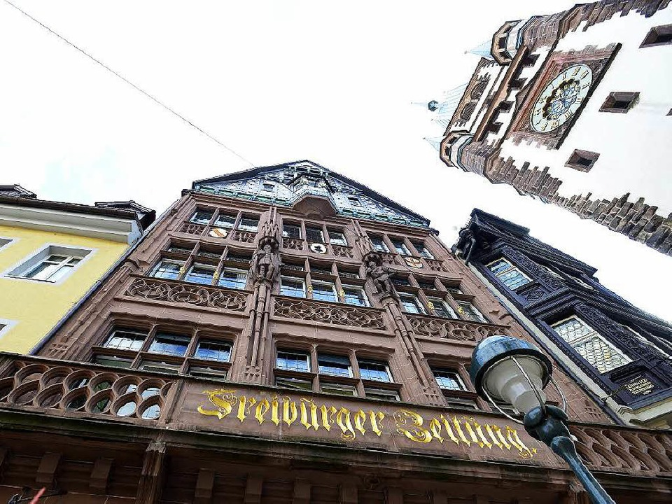Direkt am Martinstor entsteht das neue BZ-Haus an historischer Stelle.  | Foto: Ingo Schneider