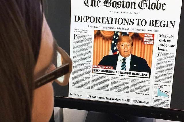 Boston Globe kontra Trump: Satire auf der Seite Eins